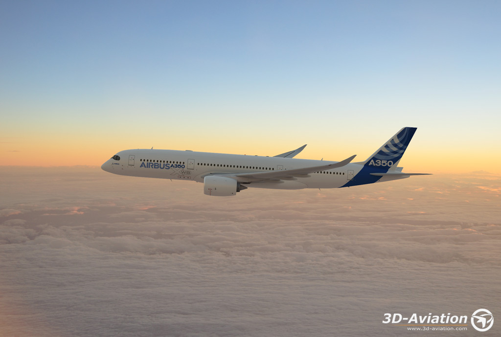 Airbus A350 House Colors 4, 3d  aircraft images 4