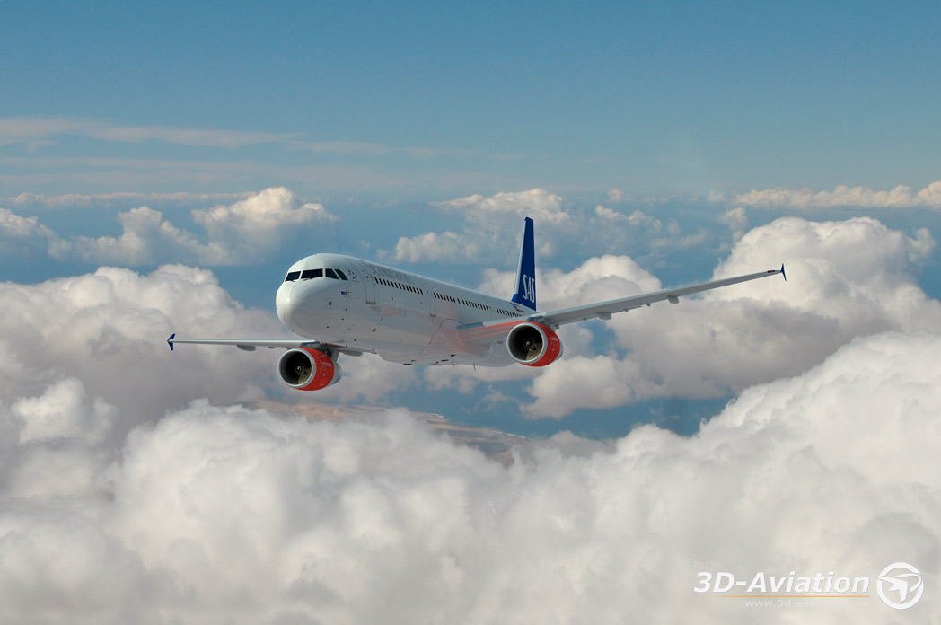 Airbus 321, 3d airplanes image 2