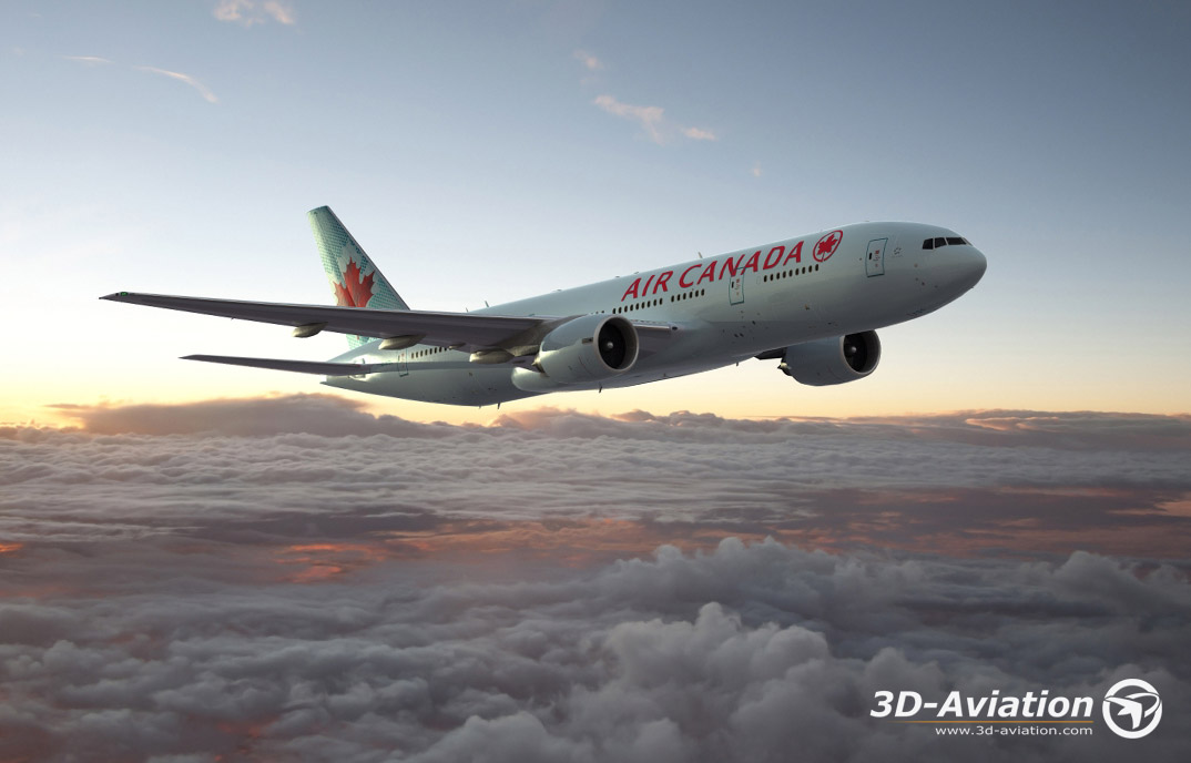 Boeing Air Canada 777, 3d aircraft image 5