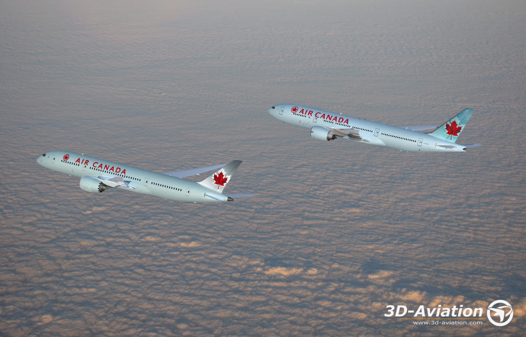 Boeing Air Canada 777 & 787, 3d aircraft image 6