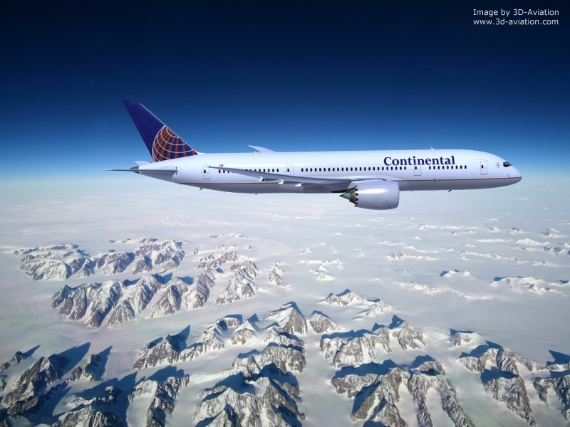 Boeing Continental 787, 3d aircraft foto 6