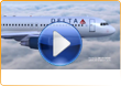 Delta Airlines, 3D promotional video production and airplane graphics