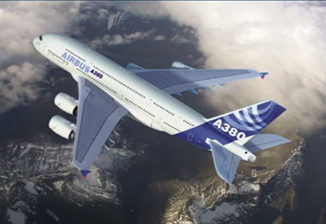 Airbus A380, 3D airplane image