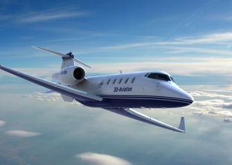 Learjet, 3d airplane image